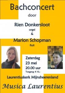 Bachconcert poster 23 mei 2015
